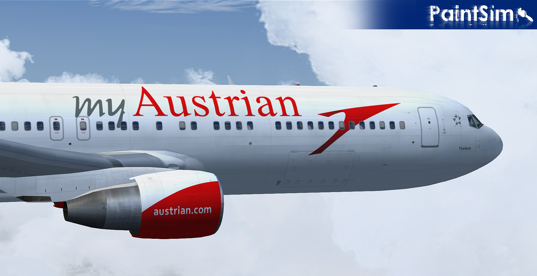 PAINTSIM - HD TEXTURE PACK 4 FOR LEVEL-D BOEING 767-300ER FS2004