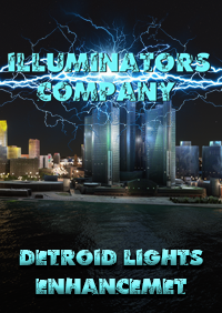ILLUMINATORS - DETROID - MICHIGAN (USA) NIGHT LIGHT ENHANCED MSFS