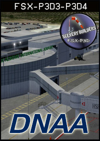 FSXCENERY - DNAA NNAMDI AZIKIWE INTERNATIONAL AIRPORT FSX P3D