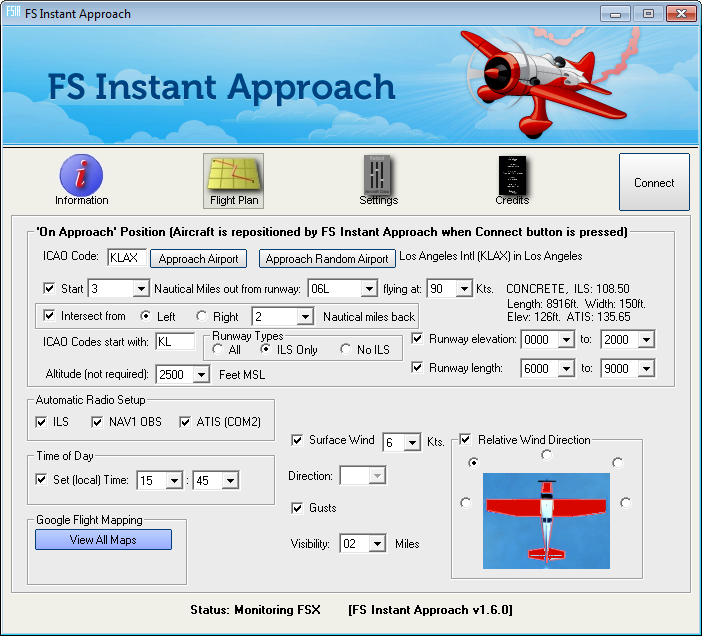 FS INSTANT APPROACH: FSX RUNWAY APPROACH MAKER