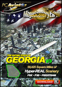 PC AVIATOR - MEGASCENERY EARTH V3 - GEORGIA FSX P3D
