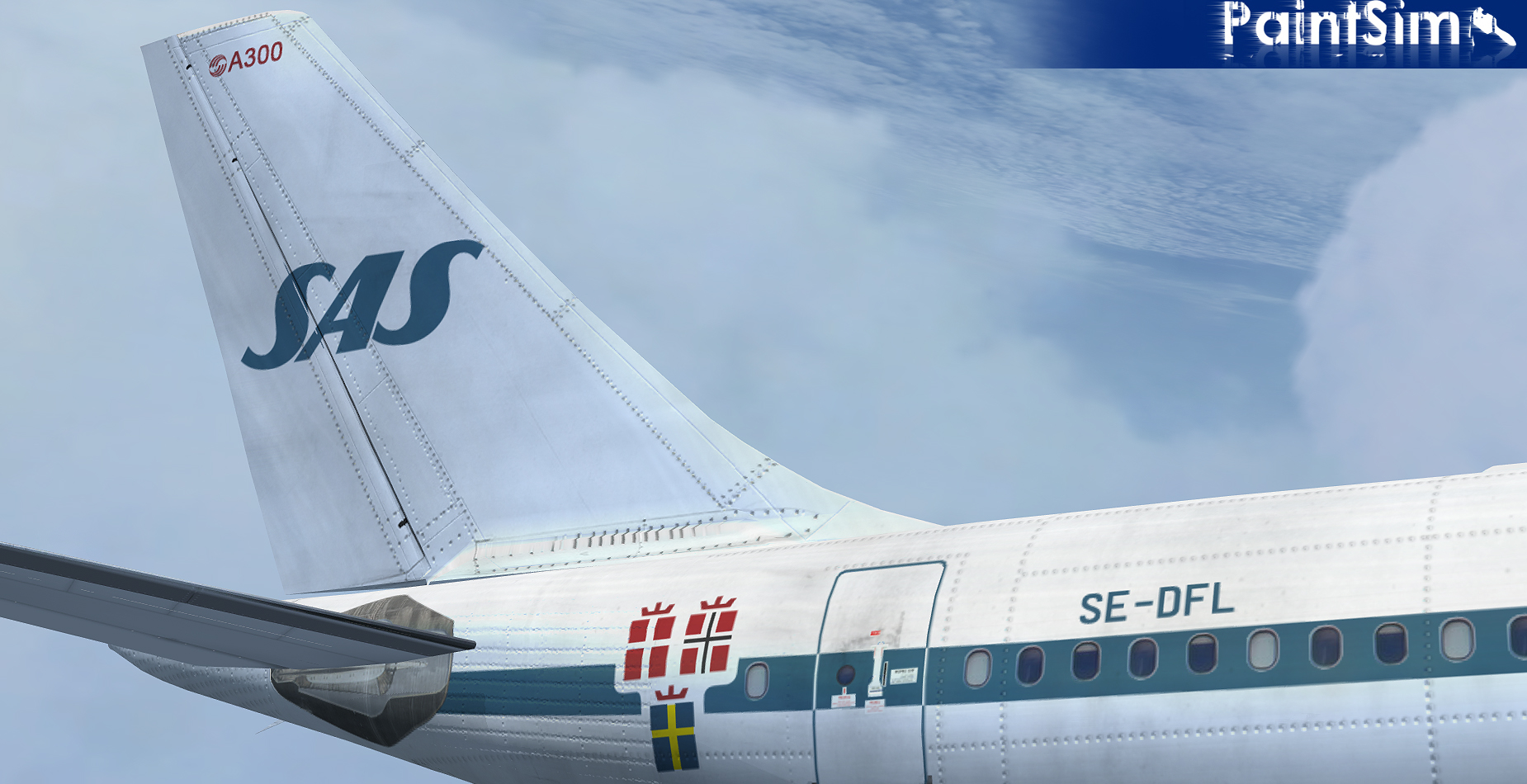 PAINTSIM - HD TEXTURE PACK 15 FOR SIMCHECK AIRBUS A300B4-200 FSX