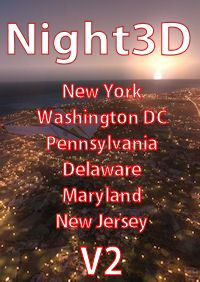 TABURET - FSX P3D NIGHT 3D NEW YORK WASHINGTON DC PENNSYLVANIA DELAWARE MARYLAND NEW JERSEY
