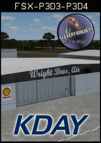 FSXCENERY - KDAY JAMES M COX DAYTON INTERNATIONAL AIRPORT FSX P3D