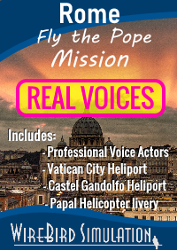 WIREBIRD SIMULATION - REAL VOICES - ROME POPE MISSION MSFS