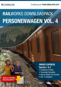 RAILWORKS DOWNLOADPACK - PERSONENWAGEN VOL. 4 ORIENT EXPRESS - ERWEITERUNG FÜR TRAIN SIMULATOR 2017