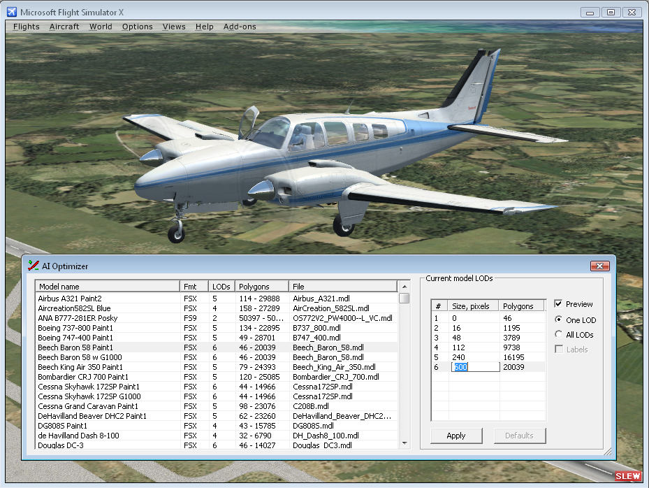 FLIGHTSIM TOOLS - AI OPTIMIZER