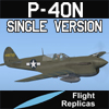 FLIGHT REPLICAS - CURTISS P-40N WARHAWK / KITTYHAWK IV SINGLE VERSION FOR FSX