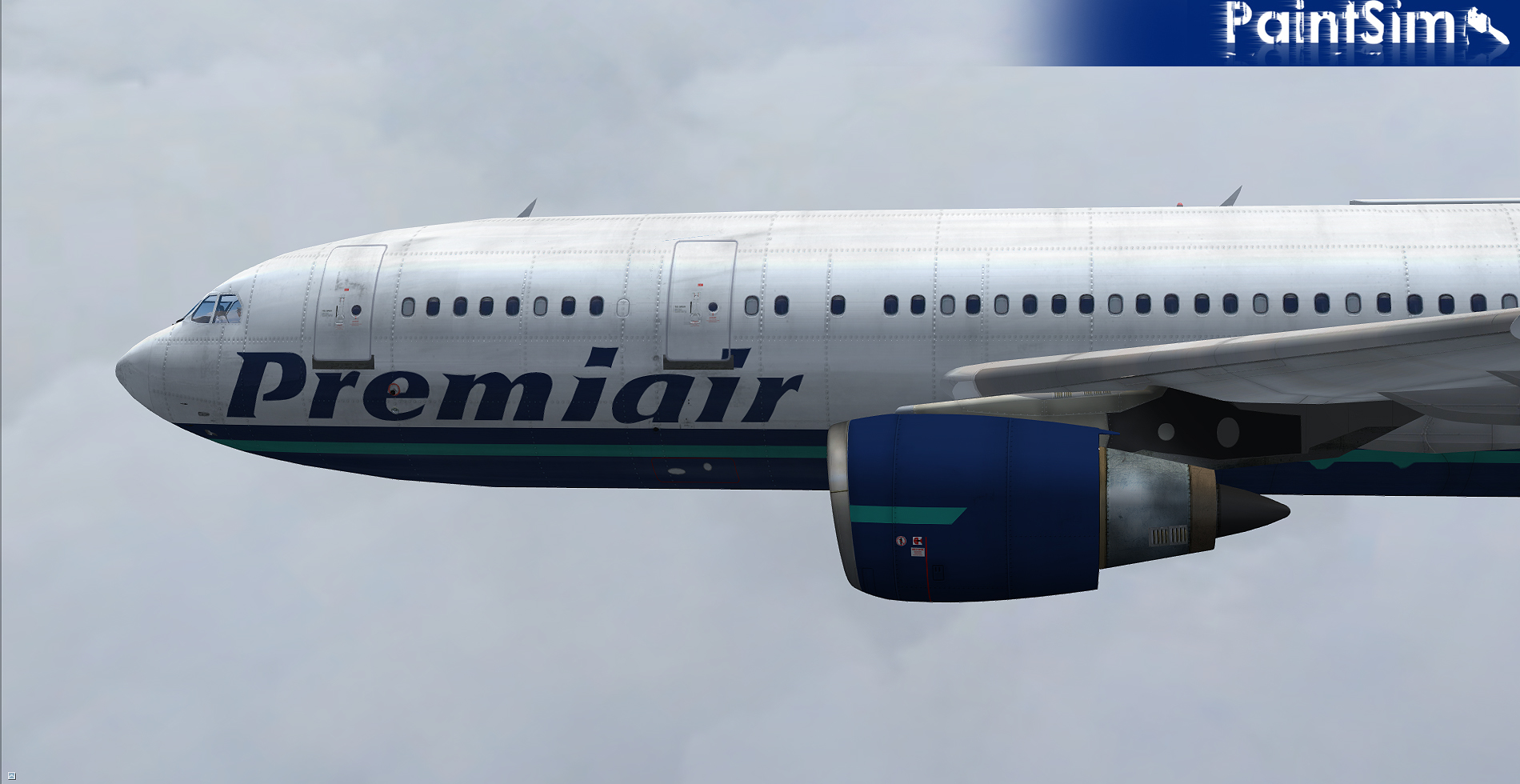 PAINTSIM - HD TEXTURE PACK 13 FOR SIMCHECK AIRBUS A300B4-200 FSX