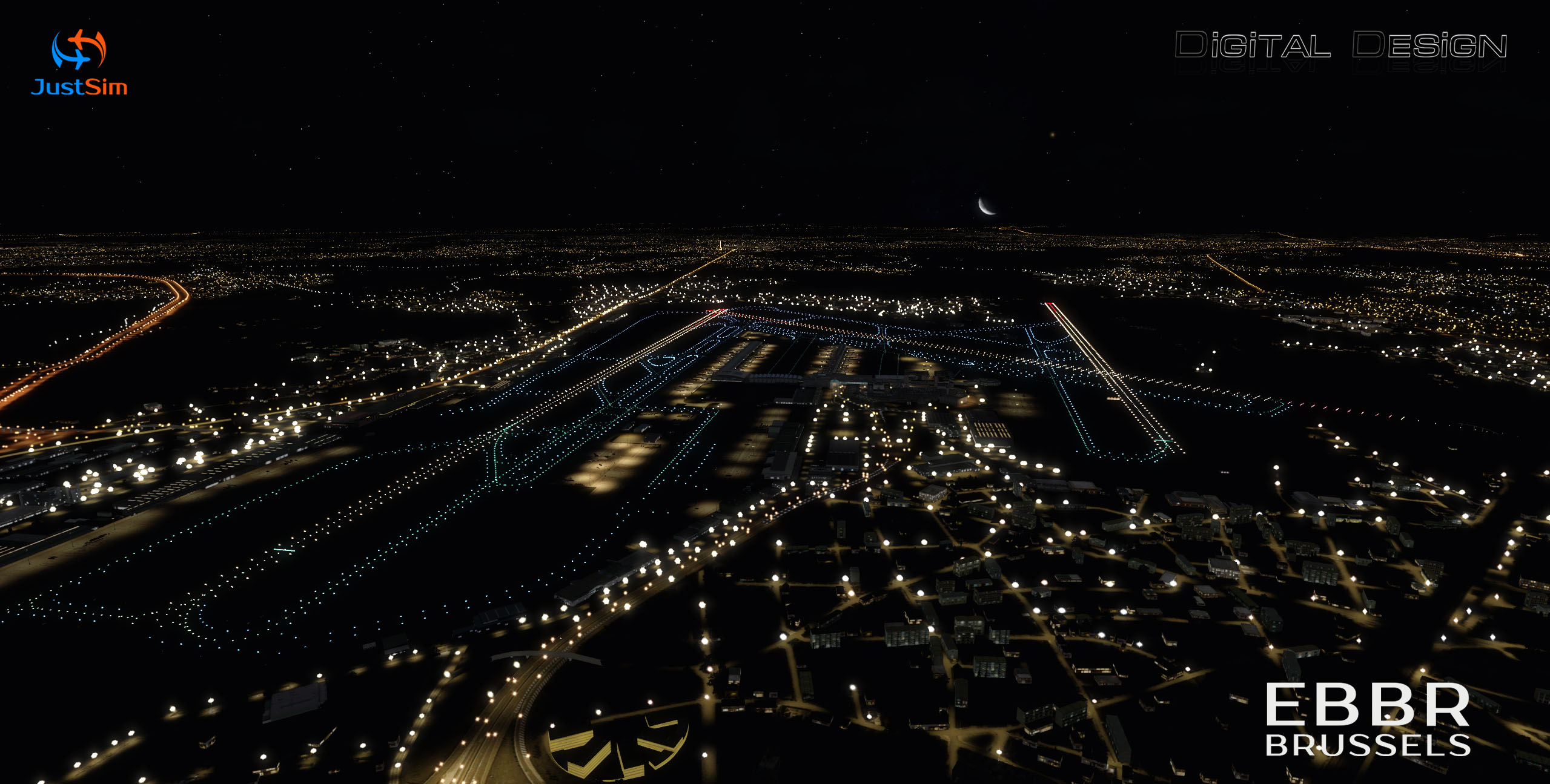 JUSTSIM - EBBR - BRUSSELS AIRPORT P3D4