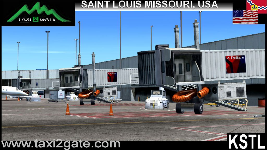 TAXI2GATE - ST. LOUIS INTERNATIONAL AIRPORT KSTL FSX