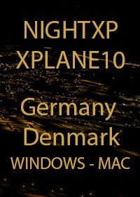 TABURET - NIGHT XP GERMANY - DENMARK FOR X-PLANE 10
