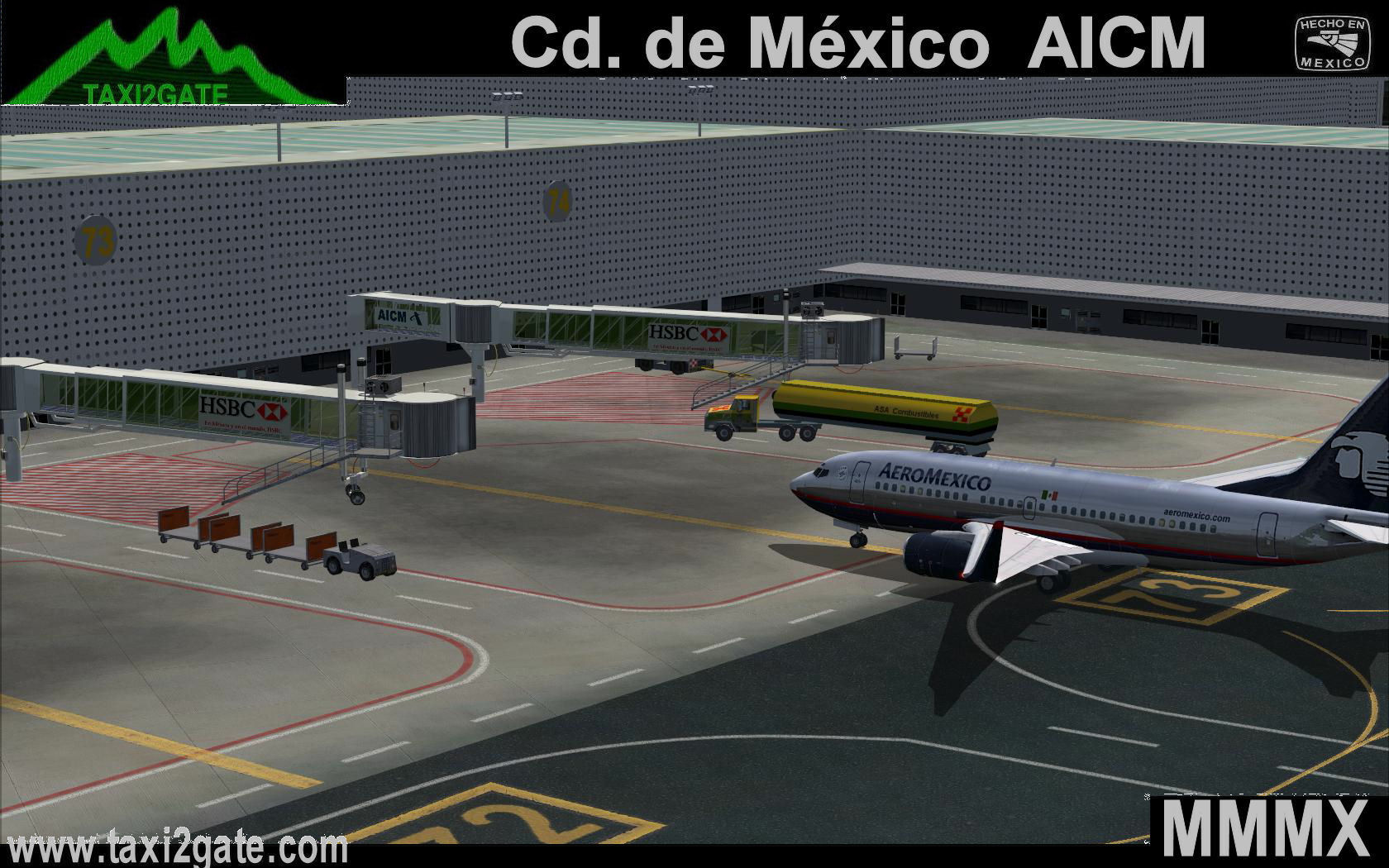 TAXI2GATE - MEXICO CITY INTERNATIONAL MMMX V2 FS2004