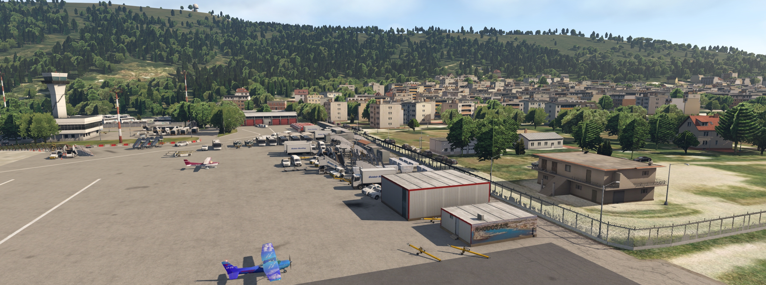 JUSTSIM - RHODES INTERNATIONAL AIRPORT X-PLANE-11