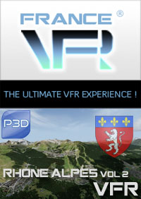 FRANCE VFR - RHONE-ALPES VFR VOL.2 3DA P3D V5/V4