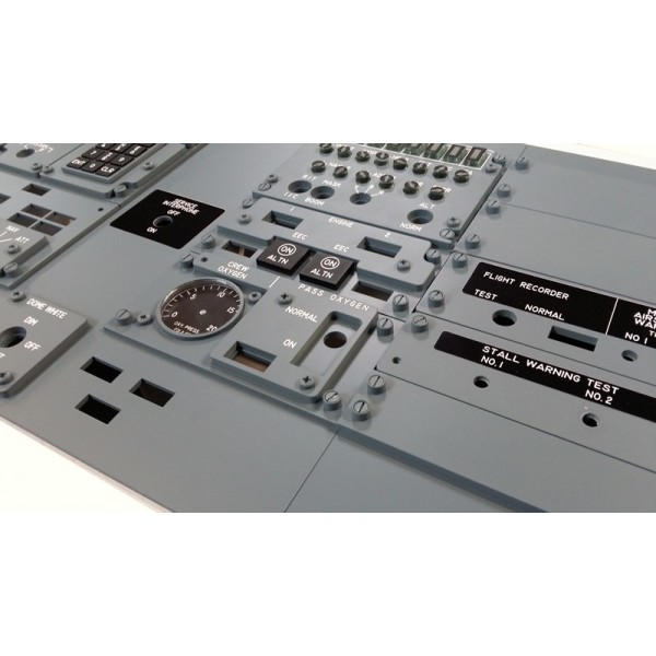 COCKPIT SIM PARTS - AFT OVERHEAD PANEL & SWITCHES KIT V2