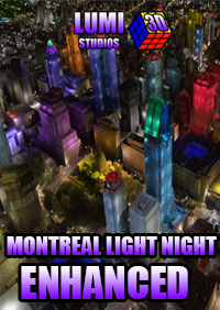 LUMI 3D STUDIOS - MONTREAL NIGHT LIGHT ENHANCED FOR MSFS