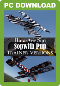 JUSTFLIGHT - RARA-AVIS SIM SOPWITH PUP - TRAINER VERSIONS