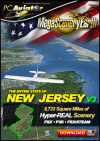 PC AVIATOR - MEGASCENERY EARTH V3 - NEW JERSEY FSX P3D