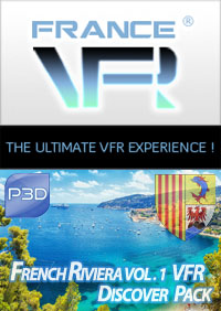 FRANCE VFR - FRENCH RIVIERA VFR VOL.1 DISCOVER PACK P3D4-5