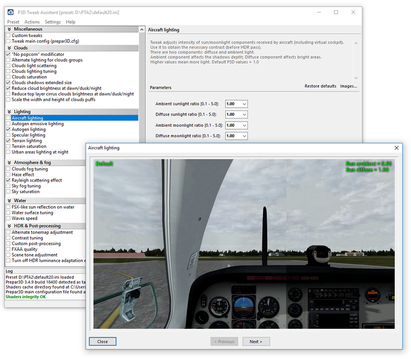 SIMTWEAKS - PTA (PREPAR3D TWEAK ASSISTANT) FOR P3D V4