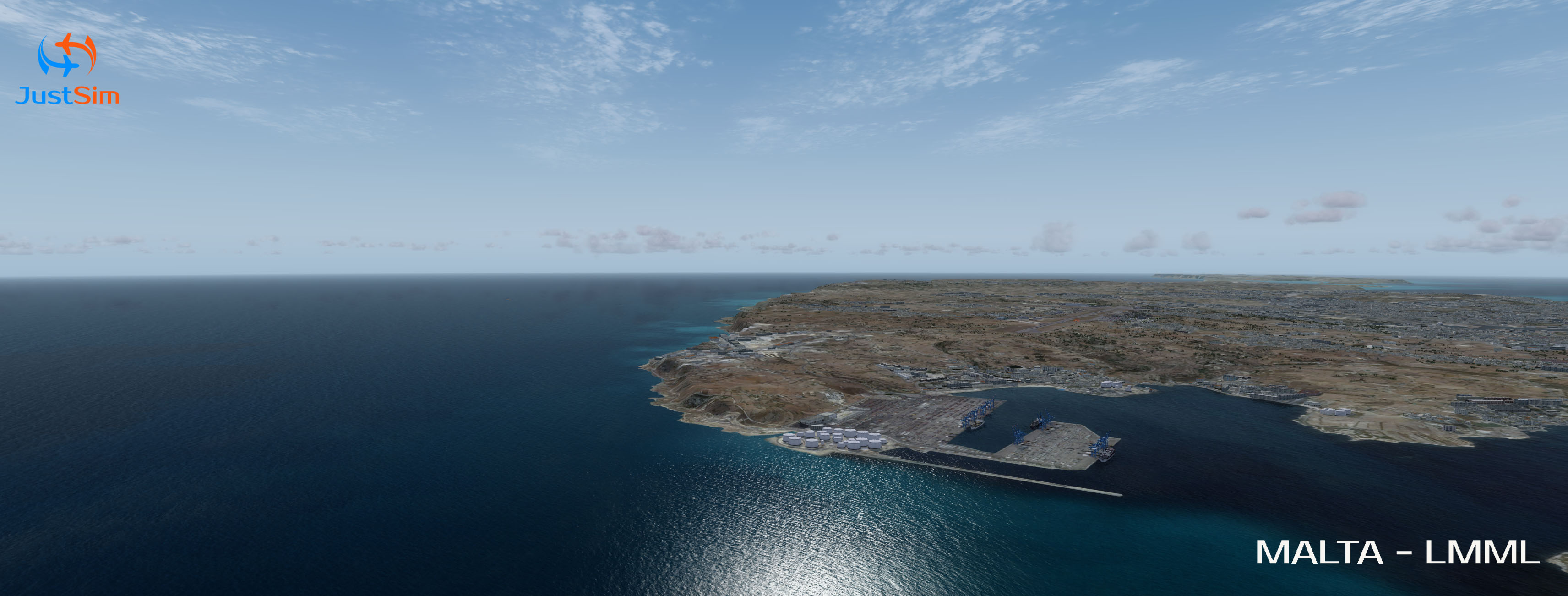 JUSTSIM - MALTA INTERNATIONAL AIRPORT - P3D