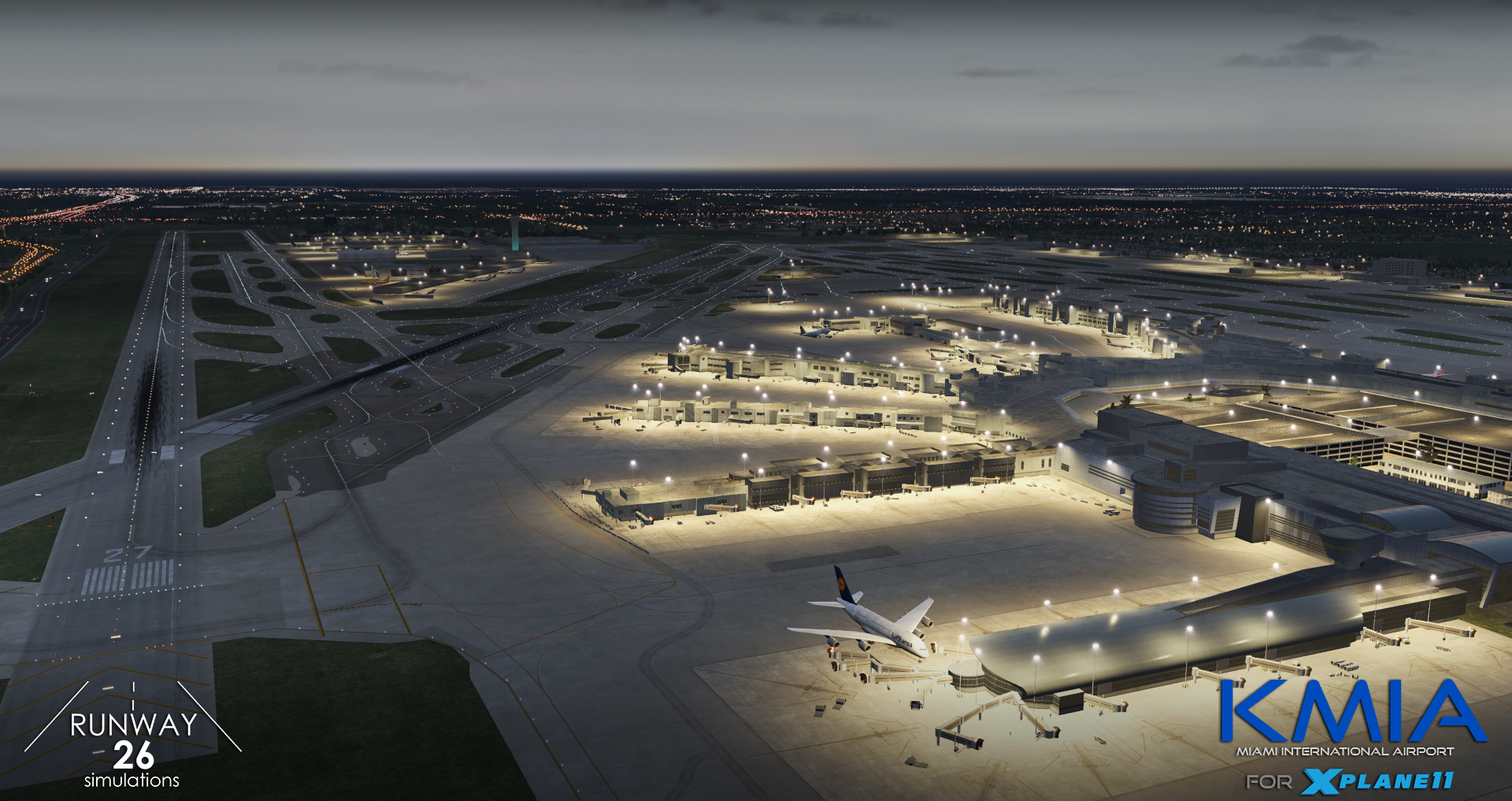 RWY26 SIMULATIONS - KMIA MIAMI INTL. AIRPORT XP11