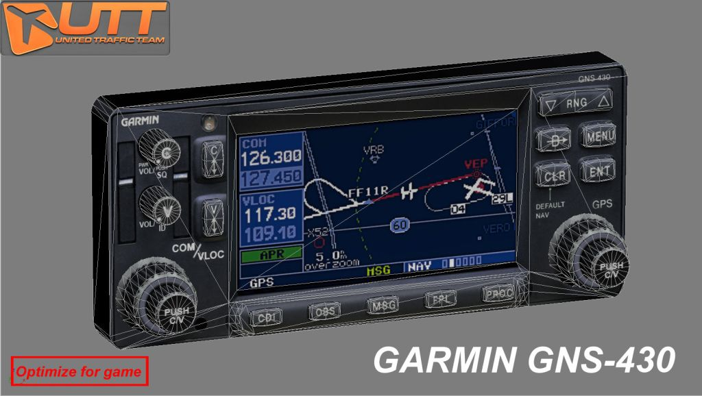 UTT - GARMIN GNS 430 SOURCE MODEL FOR 3DS MAX