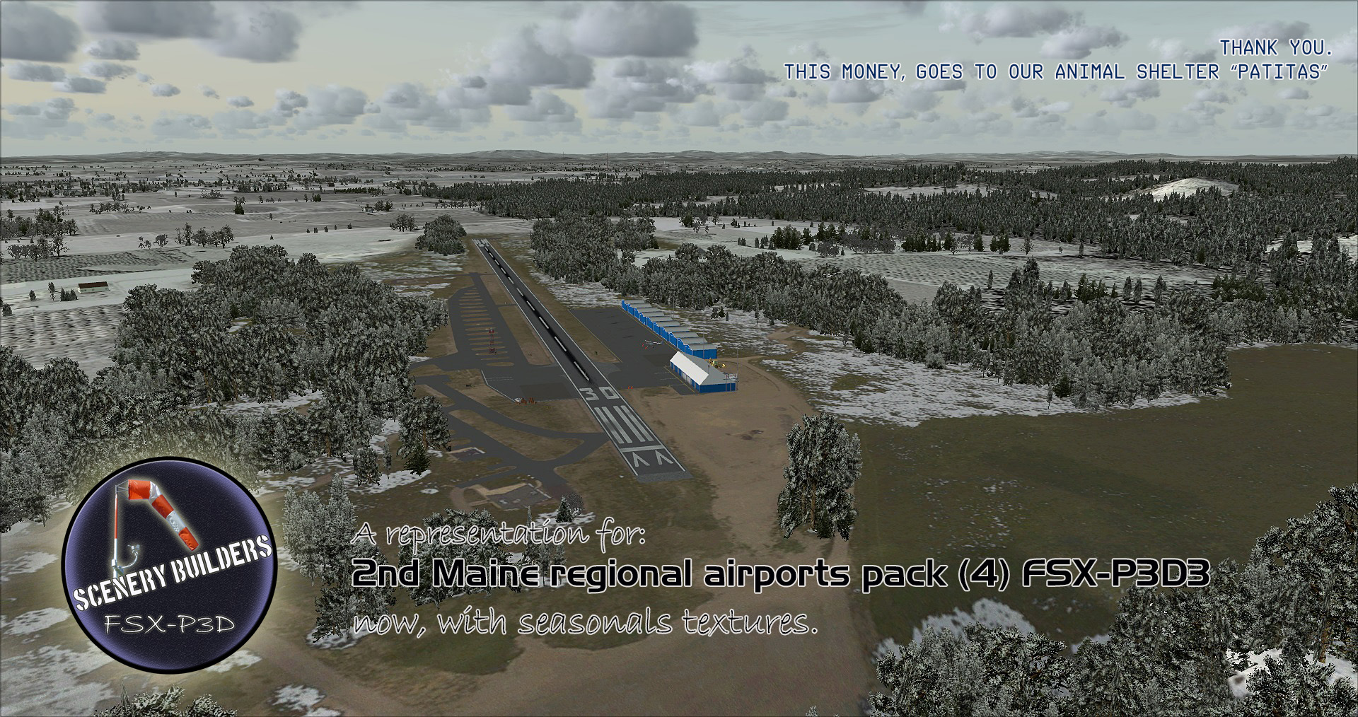 FSXCENERY -   2ND MAINE REGIONAL AIRPORTS PACK (4) FSX P3D