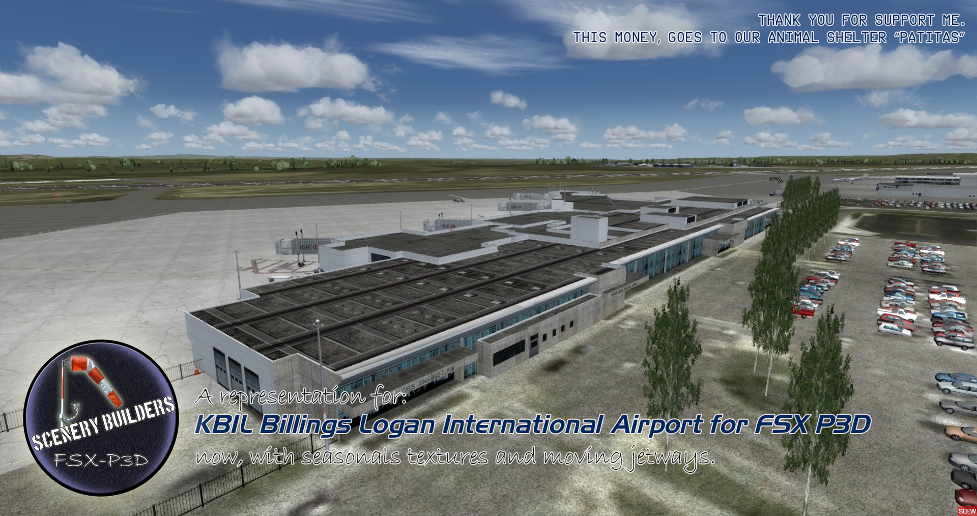 FSXCENERY - KBIL BILLINGS LOGAN INTERNATIONAL AIRPORT FSX P3D