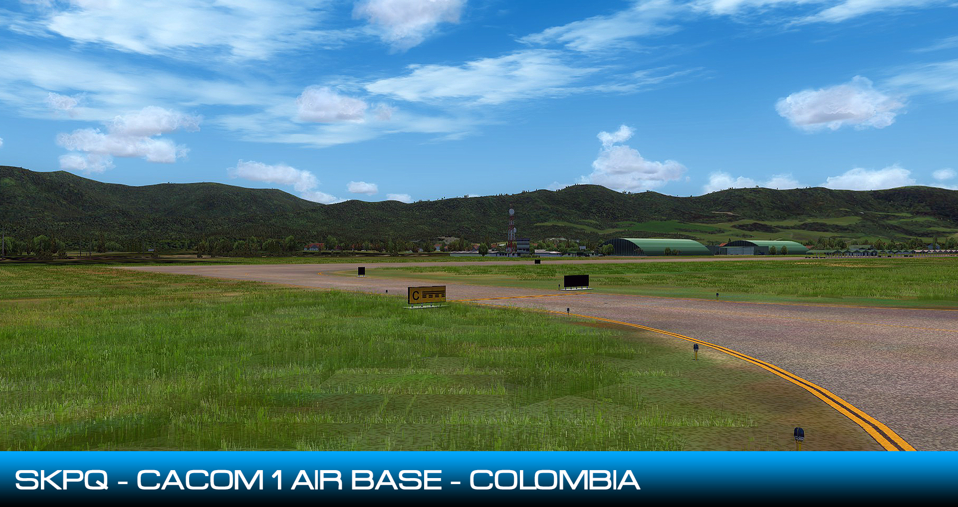 CENTRALSIM - SKPQ CACOM1 AIR BASE - CAPTAIN GERMAN OLANO AIR BASE FSX