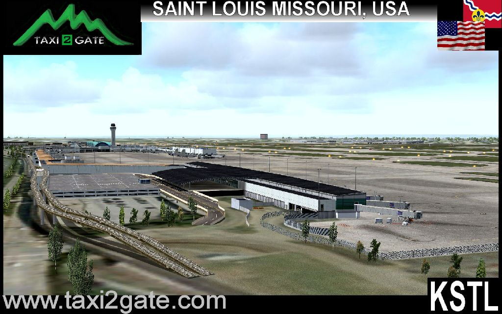 TAXI2GATE - ST. LOUIS INTERNATIONAL AIRPORT KSTL FS2004