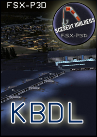 FSXCENERY - KBDL BRADLEY INTERNATIONAL AIRPORT FSX P3D