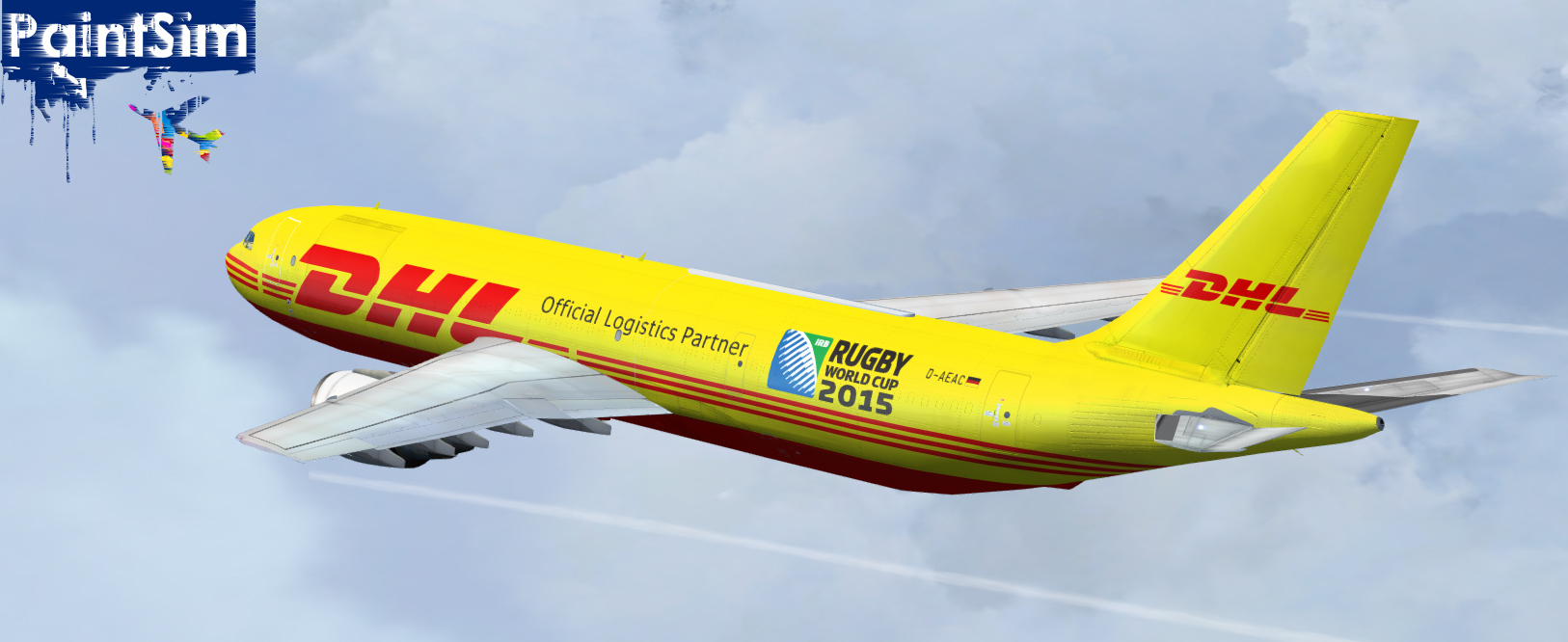 PAINTSIM - DHL HD LIVERY FOR SIMCHECK AIRBUS A300B4-200 FSX