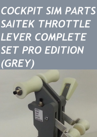 COCKPIT SIM PARTS - SAITEK THROTTLE LEVER COMPLETE SET PRO EDITION (GREY)