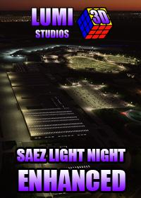 LUMI 3D STUDIOS - SAEZ - EZEIZA INTERNATIONAL AIRPORT NIGHT LIGHT ENHANCED MSFS