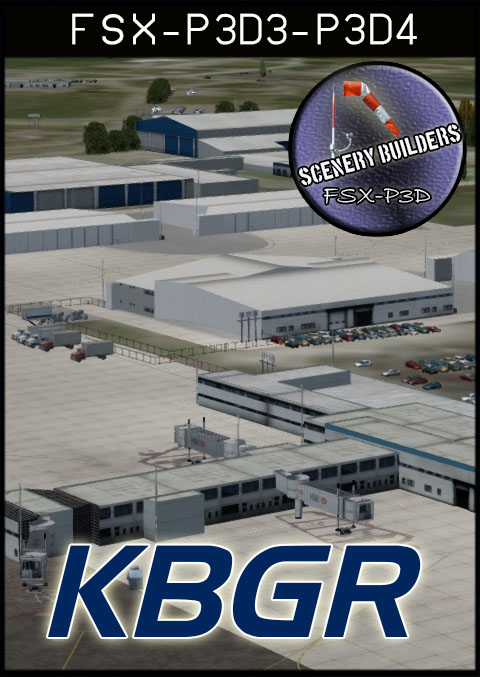 FSXCENERY - KBGR BANGOR INTERNATIONAL AIRPORT FSX P3D