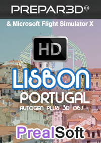 PREALSOFT - HD CITIES - LISBON - AUTOGEN 3D OBJ FSX P3D
