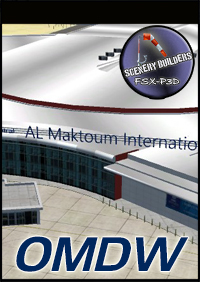 FSXCENERY - OMDW DUBAI AL MAKTOUM INTERNATIONAL AIRPORT FSX P3D