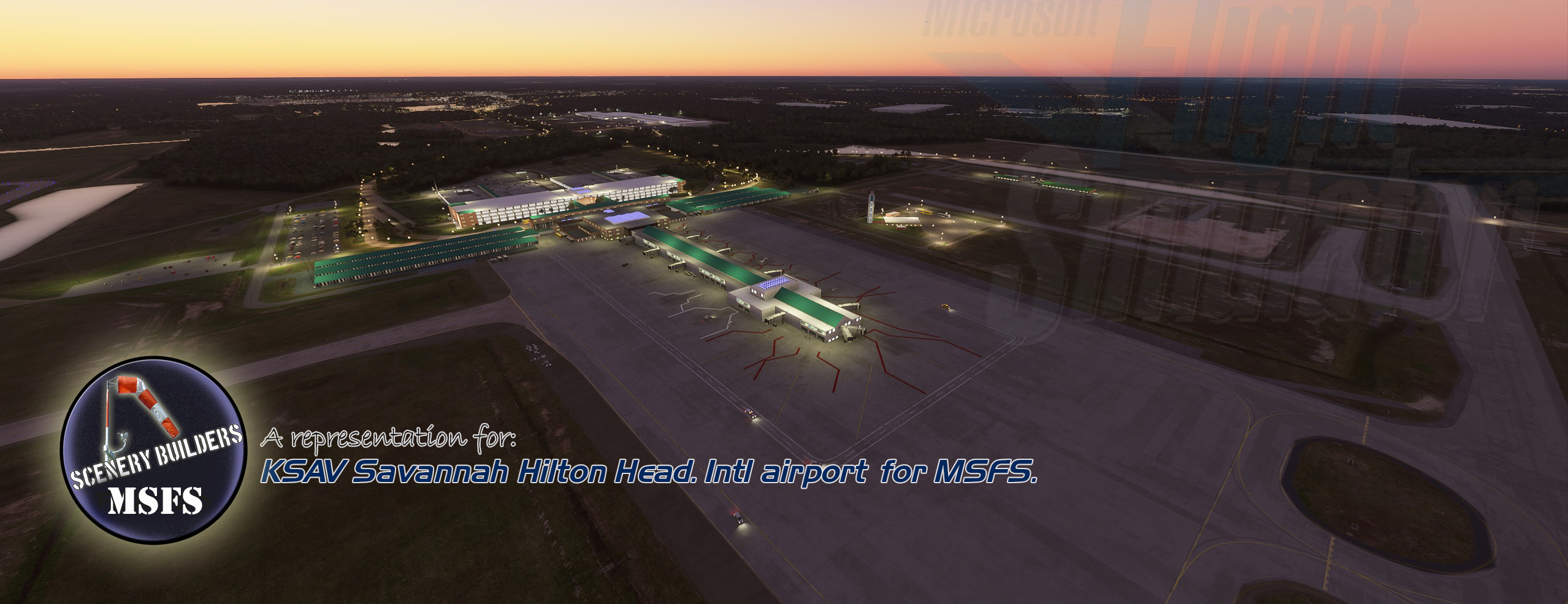FSXCENERY - KSAV SAVANNAH-HILTON HEAD INTERNATIONAL AIRPORT MSFS