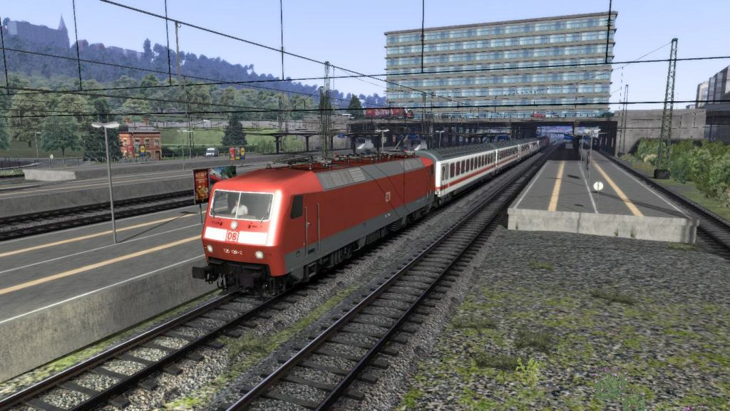 VIRTUAL RAILROADS - DB BR120 TRAFFICRED AFB /  IC COACHES APMZ/BPMZ/WRMZ