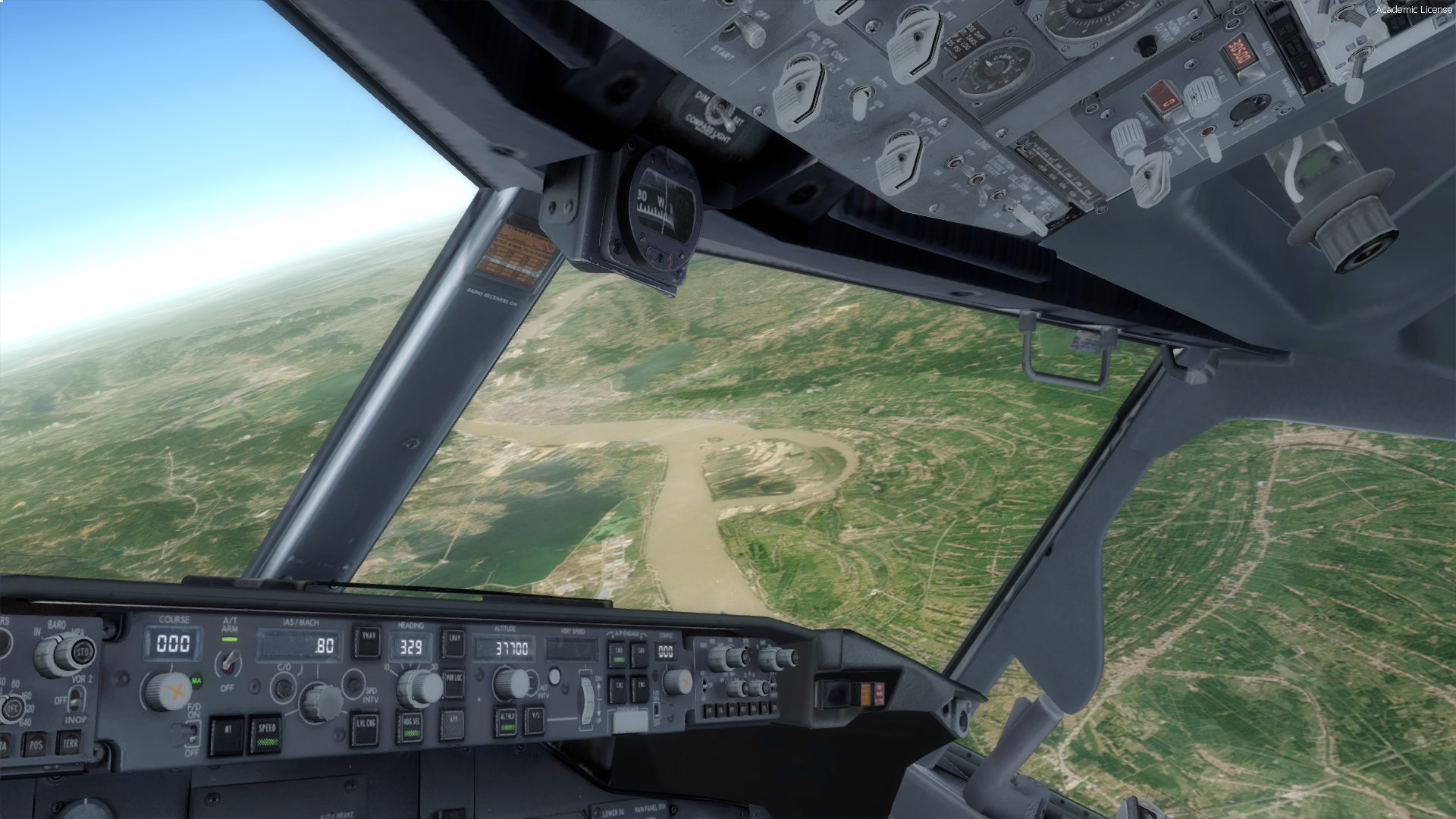 GIBSON SCENERIES FOR FLIGHT SIMULATOR - CHINA - HONG KONG TO SHANGHAI