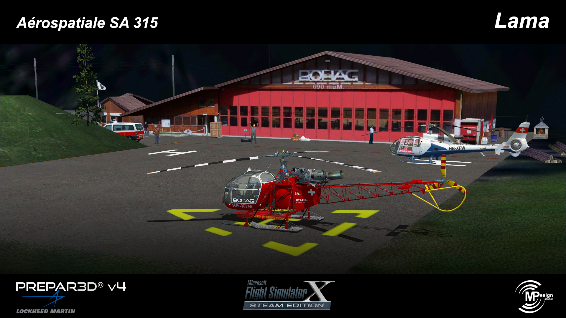 MP DESIGN STUDIO - AEROSPATIALE SA315 LAMA FSX P3D