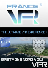 FRANCE VFR - BRETAGNE VFR 3DA VOL.1 NORTH P3D V5/V4