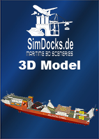 "SIMDOCKS.DE - 3D MODEL DEEP SEA CABLE SHIP ""WERNER VON SIEMENS"""