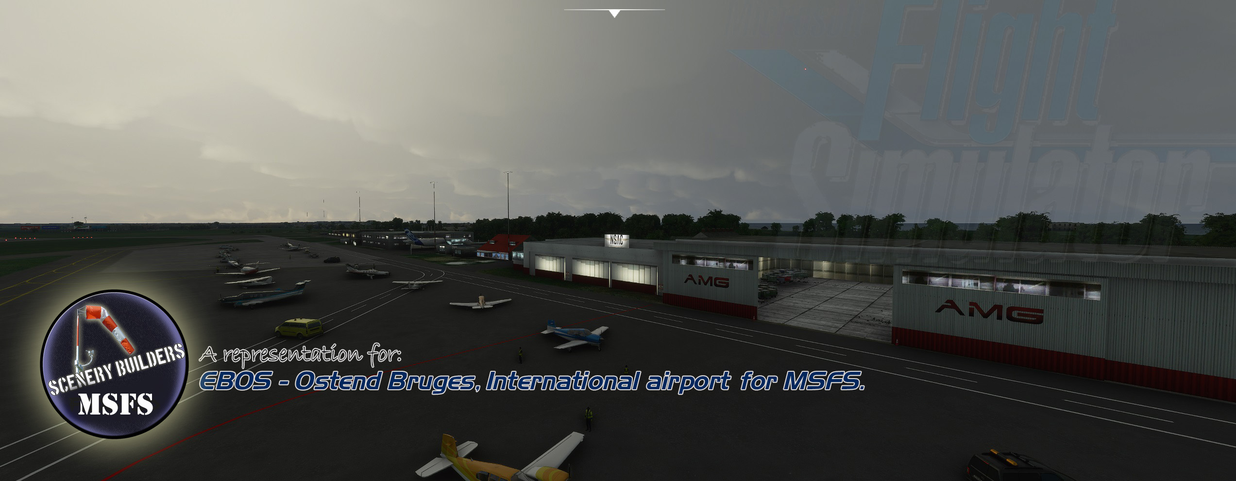 FSXCENERY - EBOS OSTEND BRUGES INTERNATIONAL AIRPORT MSFS