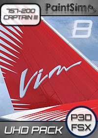 PAINTSIM - UHD TEXTURE PACK 8 FOR CAPTAIN SIM BOEING 757-200 III FSX P3D
