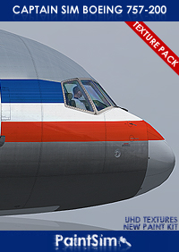 PAINTSIM - UHD TEXTURE PACK 3 FOR CAPTAIN SIM BOEING 757-200 FSX