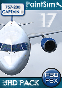 PAINTSIM - UHD TEXTURE PACK 17 FOR CAPTAIN SIM BOEING 757-200 III FSX P3D