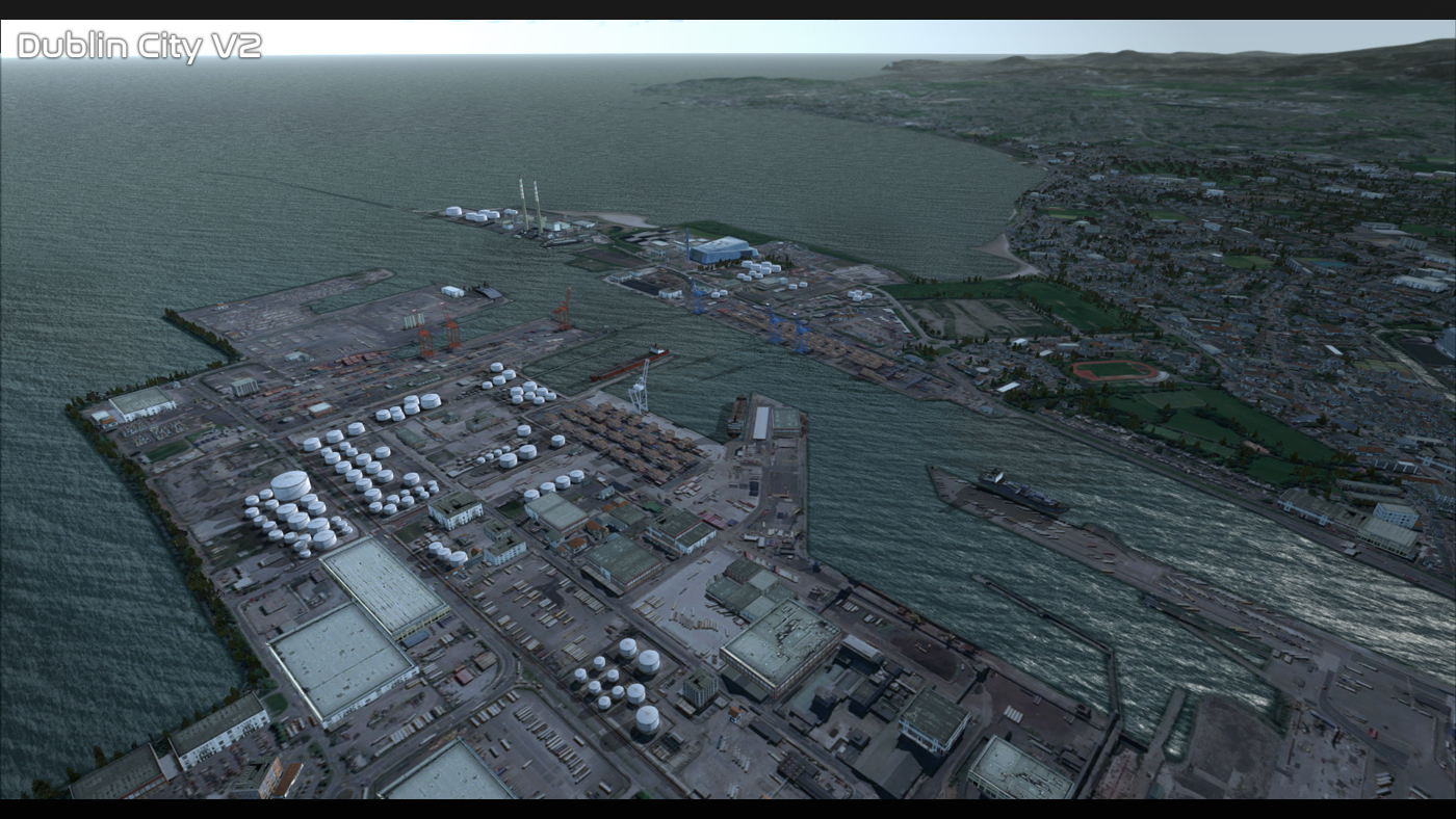 PREALSOFT - HD CITIES - DUBLIN V2 FSX P3D